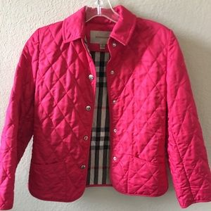 Burberry GIRLS Quilted Pink Jacket
